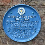 James Alfred Wight Plaque outside of entrance