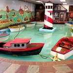 This large, unique kiddie boat ride is one of several historic Mangels rides under roof at Trimp