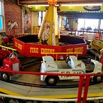 A classic kiddie ride under roof at Trimper's.