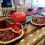 An amazingly ornate Kidide Whip is one of several historic Mangels rides under roof at Trimper's