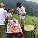 Lunch with a view after Jeep Safari