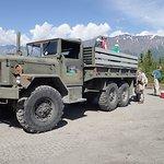Truck ride to the glacier