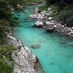 Soca River incredible coulour in the cleanest environment. Nice hiking area