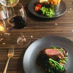 Steak and lamb chump