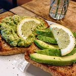 Smashed Avocado on toast with a zesty kick! Perfect way to start your day.
