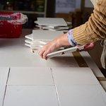 Proceso para el pintado de azulejos