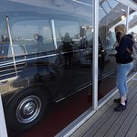 The Royal Car Glass Garage on board the Yacht.