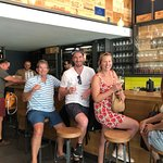 Fantastic wine bar. 3 of our group enjoyed the wine tasting and I had a glass of Mantineia Mosch