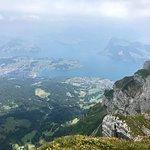 View of Luzern Lake on the way up to Mt Pilatus