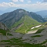 View from the top of Mt Pilatus