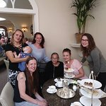 All the girls enjoying a final afternoon tea with mum