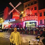 Myself, standing outside the Moulon Rouge after the show...
