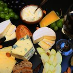 Table of Cheese and wine