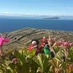 Vista del Titicaca desde las terrazas del lodge