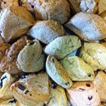 SCONES!!!  Try one of our yummy treats!  We have four different kinds to choose from!