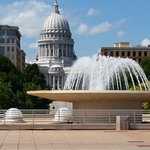 Designed by Frank Lloyd Wright, the Monona Terrace is a great place to enjoy the downtown scener