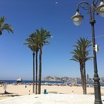 Benidorm old town beach lots of bars and restaurants