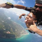 His confidence gradually decreased my fear to skydive.