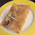 sausage cheese crepe