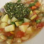 Summer Vegetable Soup, Macaroni, Pistou