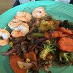 08-19-18 Ginger Stir Fry with shrimp.