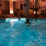 Teenage kids playing Marco Polo - great vacation memory!
