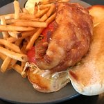 The Walleye sandwich is AWESOME!  Fresh battered and served with fries (equally awesome) or some