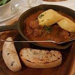 Beef Goulash with polenta