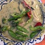 Green curry w. chicken