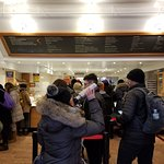 Indoor space for the waiting line at the 351 Amsterdam Ave. location