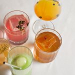 A colourful mix of some delicious drinks