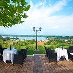 Enjoy your meal with the best view of the lake.