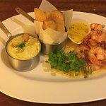 Grill prawn & Truffle purée