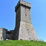 The imposing and high tower of Foretezza di Radicofani