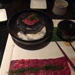 Japanese Wagyu on hot stone