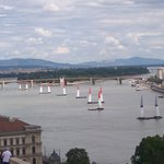 A challenge competition in the Danube River