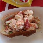 Lobster roll - eating in progress