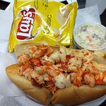 Hot lobster roll with butter