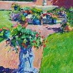 """Walt Gonske / """"Late June in my Garden"""" / oil on linen"""