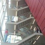 uma escada interna que parece externa