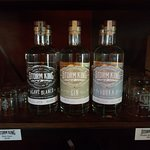 The current lineup, Agave, Gin and Vodka.