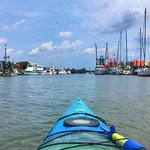 Returning to Shem Creek after my paddle.