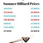 Gateway Entertainment Centre Billiards Summer 2018 Prices