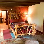 Cedar Suite, our most rustic suite with a cedar sauna and a two person shower.