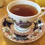 It is pleasure to drink tea from this beautiful tea set.