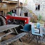 Classic Massey Ferguson tractor in the barn