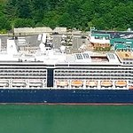 View of our cruise ship from up above!!!!