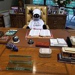 "Truett Cathy's desk in his ""treehouse office"""