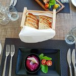 Tuna pate and homemade bread
