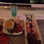 Heirloom filet mignon salad and lobster drink adios MF